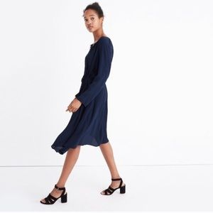 Madewell NWOT Navy Blue Trapeze Dress, Small